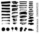 vector set of ink splashes... | Shutterstock .eps vector #1060069223