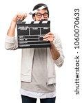 hipster man holding a... | Shutterstock . vector #1060070633