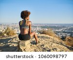 athletic african american woman ... | Shutterstock . vector #1060098797