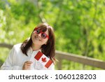young happy pretty caucasian... | Shutterstock . vector #1060128203