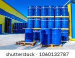 chemical reagents. the blue... | Shutterstock . vector #1060132787