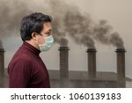 asian man wearing the face mask ... | Shutterstock . vector #1060139183
