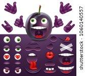 emoji  smiley creator from plum.... | Shutterstock .eps vector #1060140557