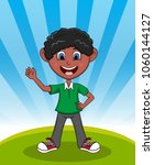 handsome little boy with...   Shutterstock . vector #1060144127