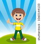 handsome little boy with...   Shutterstock . vector #1060144133