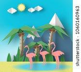 paper origami concept landscape ...   Shutterstock .eps vector #1060160963