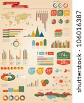 retro infographics set. world... | Shutterstock .eps vector #106016387