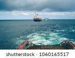 anchor handling tug supply ahts ... | Shutterstock . vector #1060165517