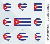 cuba flag. national flag of... | Shutterstock .eps vector #1060173833
