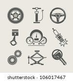 car part set of repair icon... | Shutterstock .eps vector #106017467