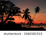beautiful sunrise saphli beach... | Shutterstock . vector #1060181513
