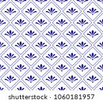 cute blue and white pattern ... | Shutterstock .eps vector #1060181957