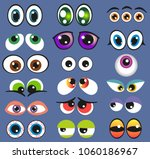 eyes set vector illustration....