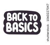 back to basics. vector hand...   Shutterstock .eps vector #1060227047