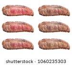 raw steaks frying degrees  rare ... | Shutterstock . vector #1060235303