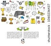 hand drawn doodle soccer set... | Shutterstock .eps vector #1060236437