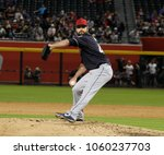 Small photo of Diamondbacks- Nick Goody pitcher for the Cleveland Indians at Chase Field in Phoenix AZ USA March 26,2018.