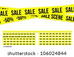 Criminal sale ribbons - stock vector