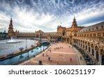 the plaza de espana is a plaza... | Shutterstock . vector #1060251197