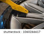 cleaning of alloy or aluminium... | Shutterstock . vector #1060266617