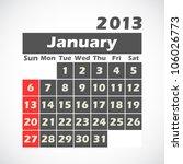 calendar 2013.january.vector...   Shutterstock .eps vector #106026773