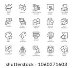 set of 20 line icons isolated... | Shutterstock .eps vector #1060271603