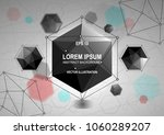 abstract banner with polygonal... | Shutterstock .eps vector #1060289207