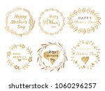 happy mother's day.  collection ... | Shutterstock .eps vector #1060296257