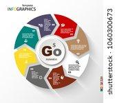 infographic  geometric graph ... | Shutterstock .eps vector #1060300673