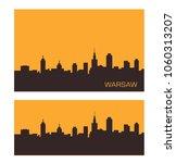 warsaw polish city skyline | Shutterstock .eps vector #1060313207