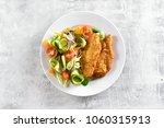 fresh vegetable salad and...   Shutterstock . vector #1060315913