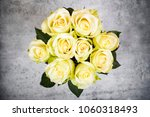 bouquet of  bright white... | Shutterstock . vector #1060318493