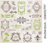 vector set  calligraphic design ... | Shutterstock .eps vector #106032797