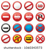 road signs vector illustration | Shutterstock .eps vector #1060343573