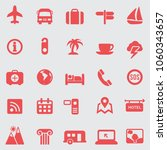 travel icons set.vector | Shutterstock .eps vector #1060343657