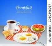 delicious nourishing breakfast...   Shutterstock .eps vector #1060346057