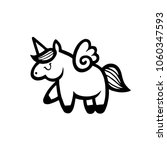 unicorns. vector illustration... | Shutterstock .eps vector #1060347593