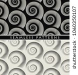 set of graphic snails seamless...   Shutterstock .eps vector #1060350107
