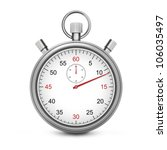 sport stopwatch with red second ... | Shutterstock . vector #106035497