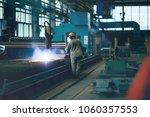metallurgical production ... | Shutterstock . vector #1060357553