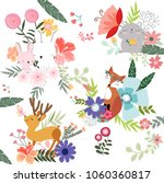 colorful cute flower and... | Shutterstock .eps vector #1060360817
