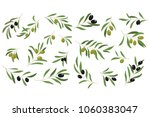 flat vector set of branches... | Shutterstock .eps vector #1060383047