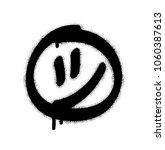 spray graffiti smiley symbol.... | Shutterstock .eps vector #1060387613