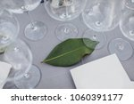 on the table in wedding banquet ... | Shutterstock . vector #1060391177