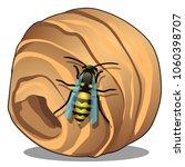 the hornet's or wasp nest ... | Shutterstock .eps vector #1060398707