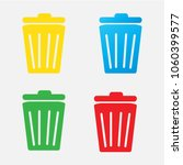 trash icon isolated on a white... | Shutterstock .eps vector #1060399577