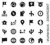 flat vector icon set   compass... | Shutterstock .eps vector #1060402847
