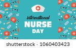postcard to the day of a nurse... | Shutterstock .eps vector #1060403423