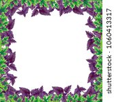 illustration frame of basil and ... | Shutterstock . vector #1060413317