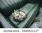 wedding bouquet of flowers and... | Shutterstock . vector #1060421117